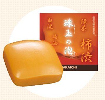 柿渋エキス配合石鹸「珠玉の泡」